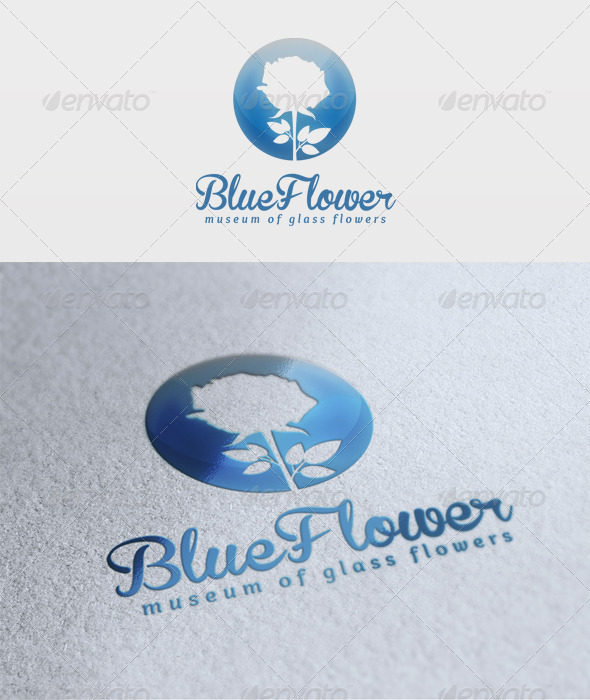Blue Flower Logo  - Nature Logo Templates
