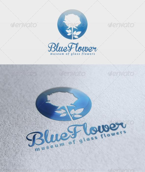 GraphicRiver Blue Flower Logo 1935475