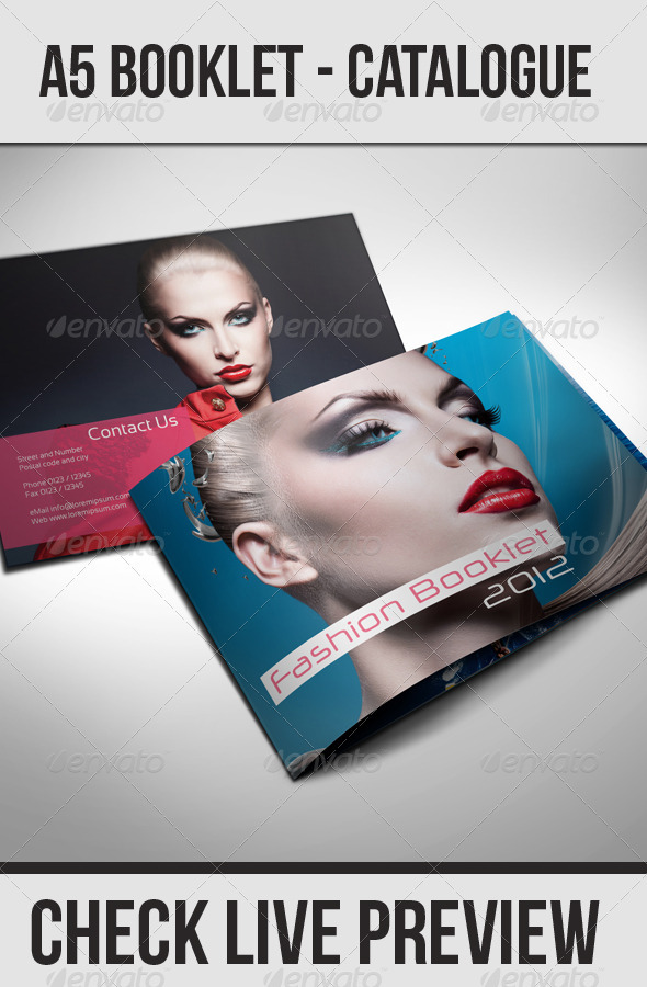 GraphicRiver A5 Booklet Catalogue 494676