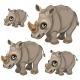 Rhino with Green Eyes