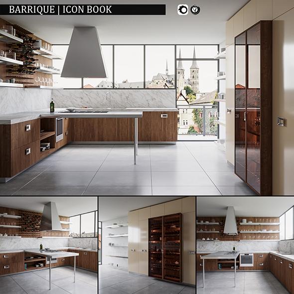 3DOcean Kitchen Barrique Icon Book 19827853
