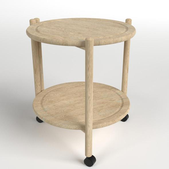 3DOcean Wooden Circular Side Table 19828036