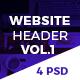 Creative & Corporate Website Header