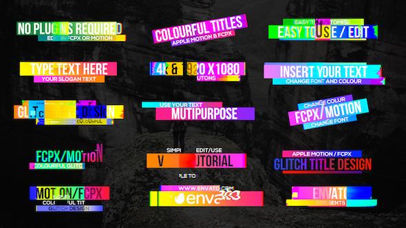 Colourful Glitch Titles 2