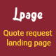 Lpage - Multipurpose quote request Landing page