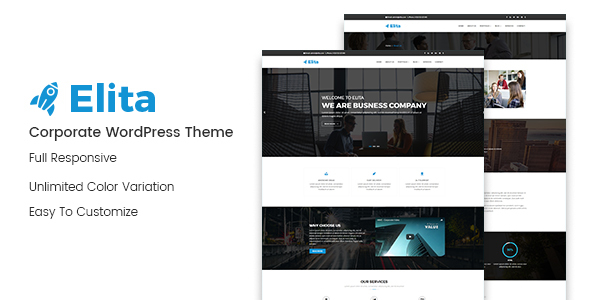 Elita – Corporate WordPress Theme (Business) images