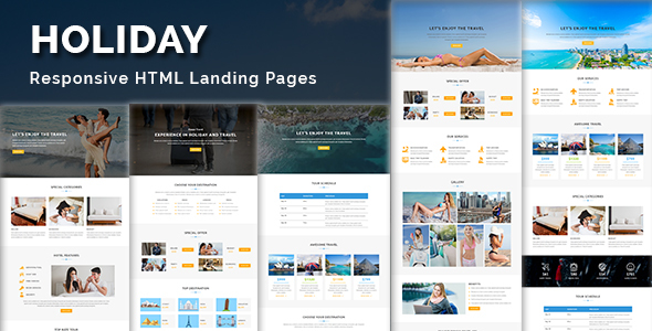 HOLIDAY - Multipurpose Responsive HTML Landing Page