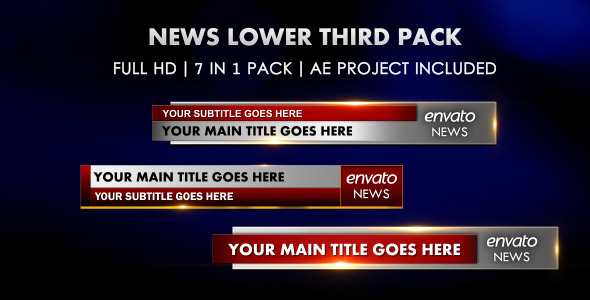 VideoHive News Lower Third Pack 1941218