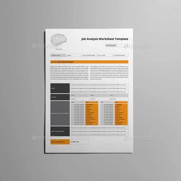Job Analysis Worksheet Template by Keboto – Job Analysis Template