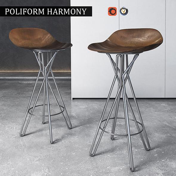 3DOcean Chair Poliform Harmony 19830747