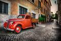 Red car in Trastevere