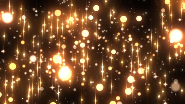 VideoHive Gold Rain Glitter 19831151