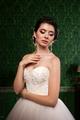 Sensual bride in vintage interior