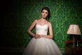 Beautiful bride in vintage interior