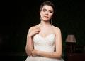 Elegant bride in vintage interior