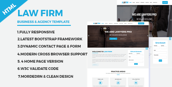 Download Law Firm - Business and Agency Responsive HTML Template