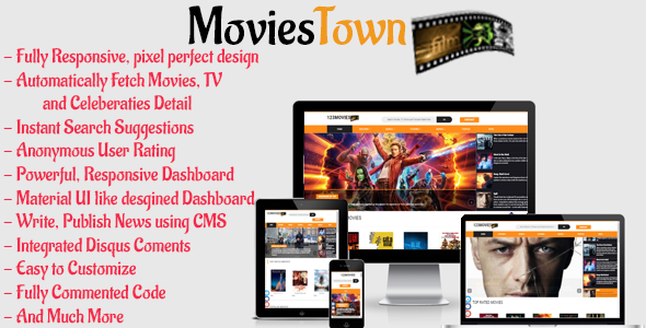 MoviesTown – Full Film,Television and Celebrities Database (Content material Management)
