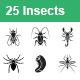 Insects Vector Icons