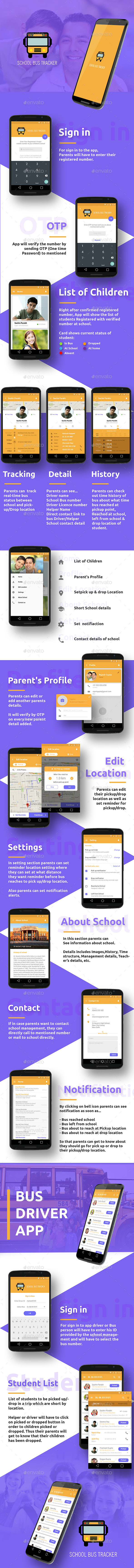 Bus Tracking Mobile App UI (User Interfaces)