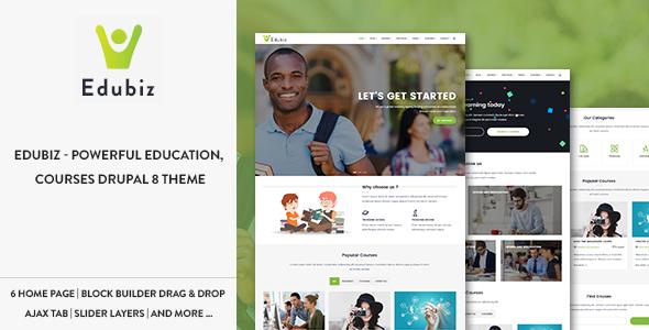 Download Edubiz - Powerful Education, Courses Drupal 8 Theme