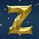 3D Gold Party Foil Letter Balloons