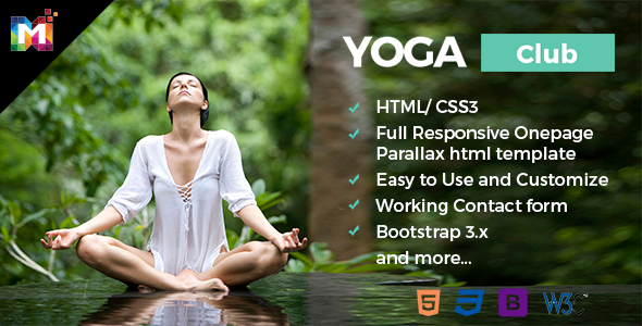 Responsive One Page Parallax HTML Template