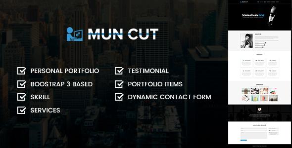 Mun Cut Personal Portfolio HTML Template (Portfolio) images