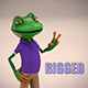 Toon Froggy Character (Rigged)
