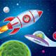 Kid In Rocket Ship Sees Alien