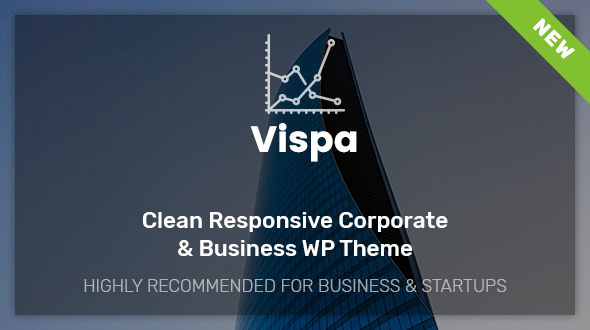 Vispa for Startups - Responsive Corporate & Business WordPress Theme