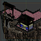 Game Model - Taoist comprehension scene - diarrhea and cliffs between floating gate building 01