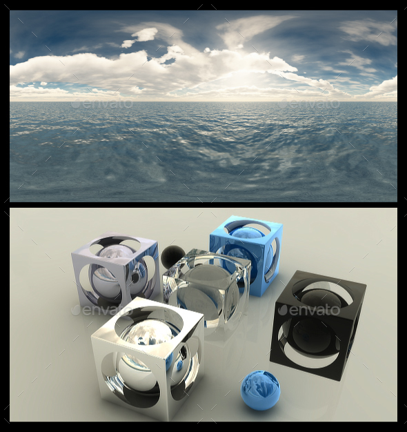 3DOcean Cloudy Ocean Day 7 HDRI 19836976