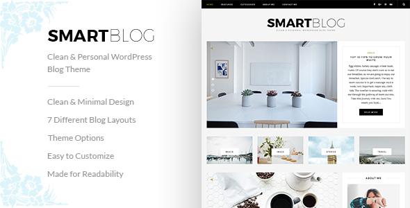 Download SmartBlog - Clean & Personal WordPress Blog Theme.