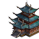 Game Model - Taoist comprehension scene - martial hall building layout point 01