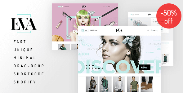 Eva - Responsive Drag&Drop Shopify Theme