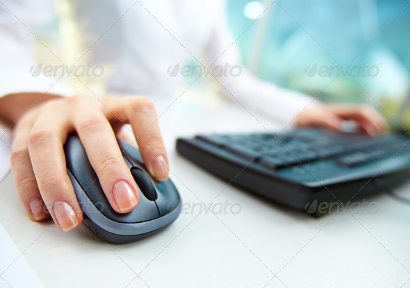 Computer work - Stock Photo - Images