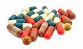 Capsule Pills Medicine in heap