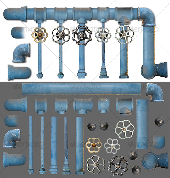 GraphicRiver Pipes and Valves kit 1 58951