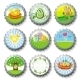 Easter bottlecaps - GraphicRiver Item for Sale