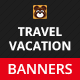 Travel, Vacation Web Ad Marketing Banners