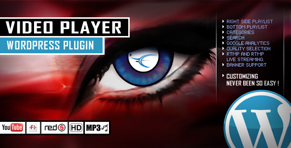 Video Player Wordpress Plugin - YouTube/FLV/H264 - CodeCanyon Item for Sale