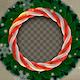 Sweet Candy Cane Christmas Wreath