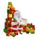 Santa With Scroll and Gifts