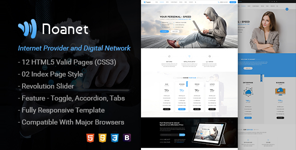 Download Noanet   Internet Provider and Digital Network HTML Template