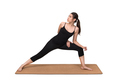 oung woman exercise yoga pose on yoga mat
