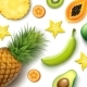 Tropical Fruits Background