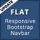 Flat - Responsive Bootstrap Menu