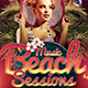 Beach Night Sessions Flyer Template