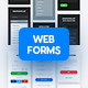 Light and Dark Soft Material Web Forms