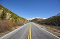 Scenic mountain road in autumn, travel concept picture.